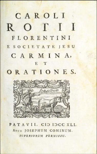 1291 - Rota, Carmina, et orationes, 1741