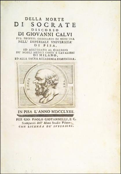 1351 - Calvi, Della Morte di Socrate, 1763