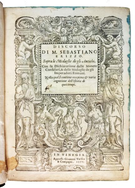 1361 - Erizzo, Discorso sopra le medaglie, 1571