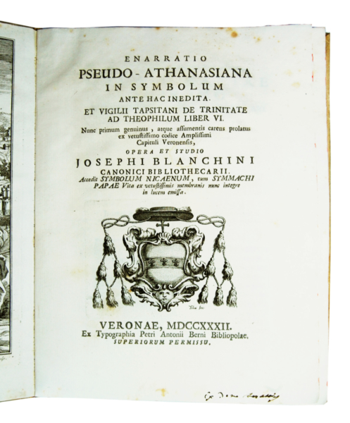 1362 - Bianchini, Enarratio pseudo-Athanasiana, 1732
