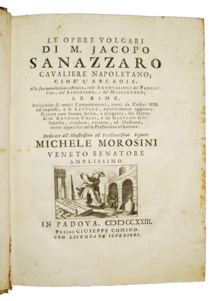 1639 - Sannazzaro, Le opere volgari, 1723