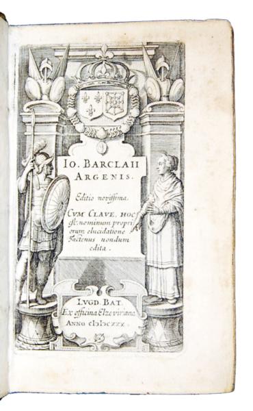 1656 - Barclay, Argenis, Editio novissima cum clave, Elzeviro, 1630