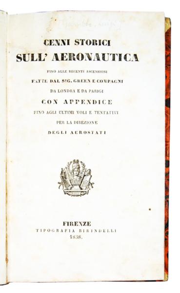 1657 - Garibbo, Cenni storici sull'aeronautica, 1838