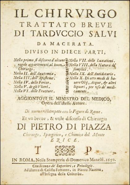 1675 - Salvi, Il chirurgo trattato breve, 1650