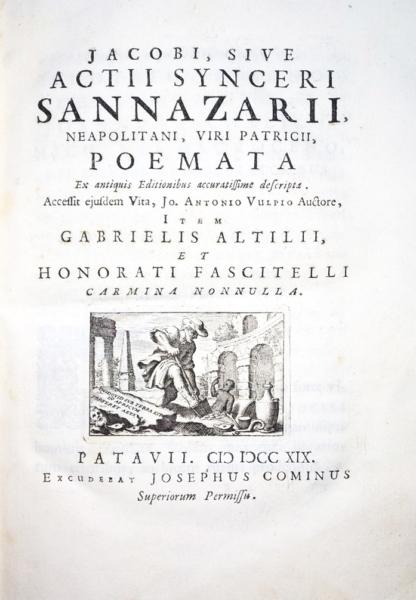 2101 - Sannazzaro, Poemata ex antiquis editionibus accuratissime descripta, 1719