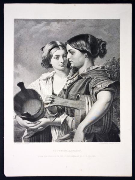 4537 - Scottish lassies - da un dipinto di J. Phillip (circa 1860)