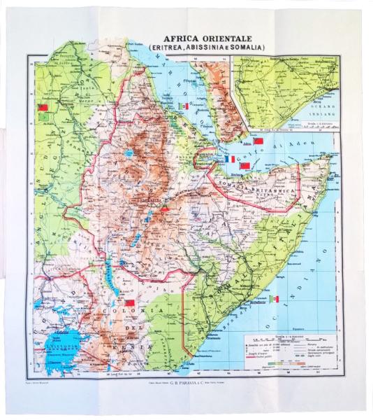 6007 - Africa Orientale (Eritrea, Abissinia, Somalia e Paesi limitrofi) - Scala 1:4.500.000 - Torino, 1935
